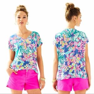 Lilly Pulitzer Hartwell Boxy Linen Top